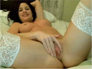 Brunette Clit Cute Masturbating Pussy Shaved Stockings Teen