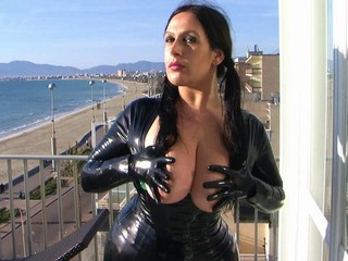 Big Tits Fetish Latex  Outdoor