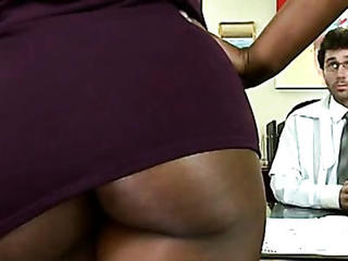 Ebony  Office Pornstar