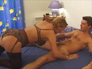 Hot French Blond Mature In Action