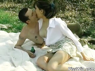 Cute Kissing Outdoor Skirt Small Tits Student Teen