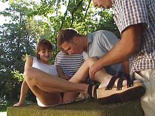 Cute Gangbang Outdoor Teen