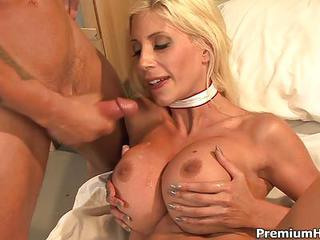 Blonde Haired Busty Milf Nurse Puma Swede Treats A Lucky Patient With...