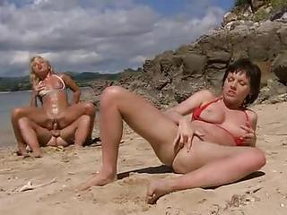 Bikini Girls On A Beautiful Beach Have Hot Sex