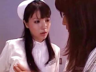 Asian Cute Japanese Lesbian Nurse Teen Uniform