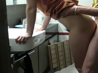 Korean couple bathroom fuck...