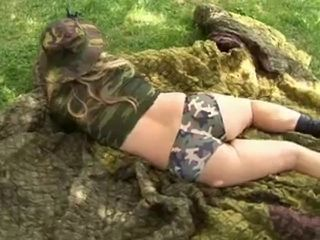 hot milf in the army...