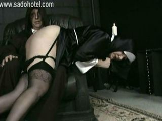 Hot and naughty nun slave ben...