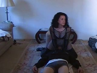 Dominant wife makes him worsh...