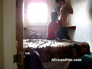 Black teen Nana making out with white dude