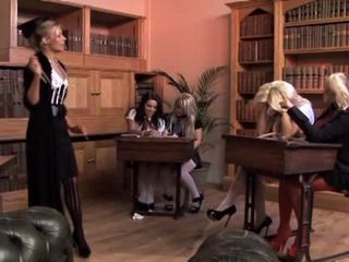 Class gangbang with Gemma Massey and Michelle Thorne