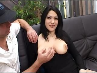 Vanilla puss with snow-white ass shows her piss-flaps to horny old man