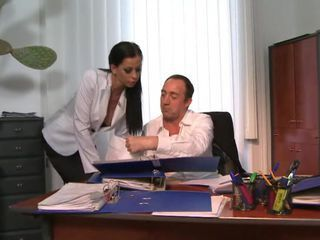 Hot secretary Larissa Dee gets an office slamming
