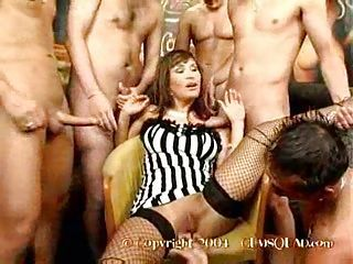 cumming all over gangbang