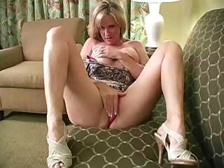 Juicy blond milf with amazing body teaches you to handle your cock