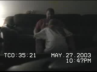 Babysitter sucks on couch with hidden camera