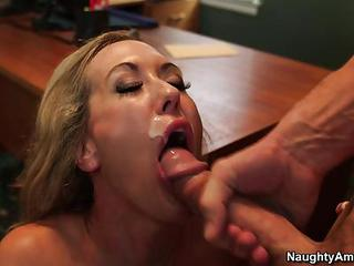 Brandi Love Gets Her Mouth Fille...