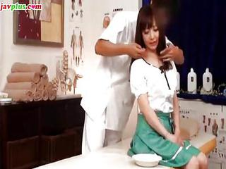 Amazing Asian Doctor Japanese Massage Teen Uniform