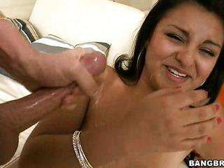 Saucy Latina Gets Her Face Blast...