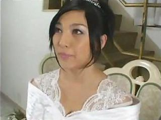 Amazingly-looking bride Saori Hara fucks her fiancee after wedding