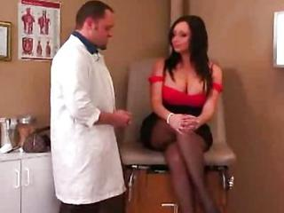 Big Tits Doctor  Pantyhose Pornstar Uniform