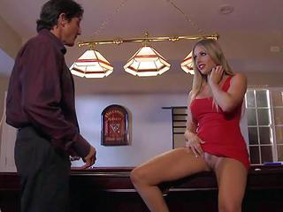 Blonde Samantha Saint With Long...
