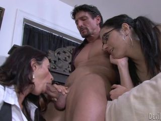 Randy Ariella Ferrera gobbles down this pork sword