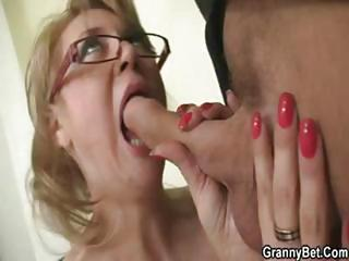 Blonde Blowjob Glasses Handjob Mature Office Pornstar
