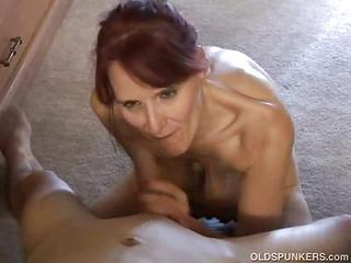 Slutty Redhead Granny Giving Hea...
