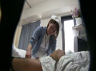 Asian Handjob HiddenCam Japanese Nurse Teen Uniform Voyeur