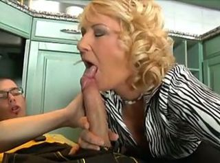Blonde Blowjob Handjob Mature