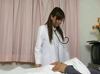 Japanese nurse bitch gets her patient fixed