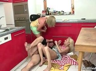 Cock hungry granny seduces her daughter& 039;s BF _: grannies matures old+young