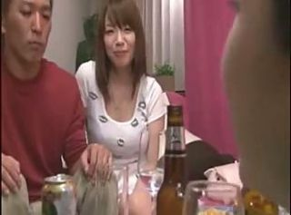 Asian Big Tits Drunk Japanese Kitchen  Threesome