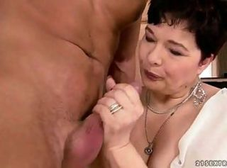Chubby grandma getting fucked hard
