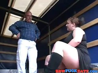 Curvy BBW Teen Pleasuring Ancient Man