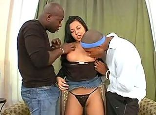 Asian Hardcore Interracial  Thai Threesome