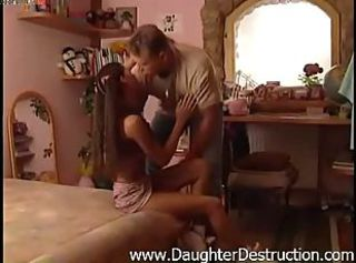 Cute Daddy Hardcore Kissing Teen