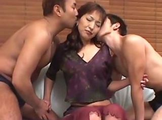 avmost.com Hot housewife serves her two guests with her clothes off