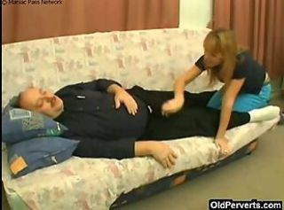 Taking care of sick man& 039;s cock