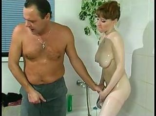 HORNY BUSTY DAUGTHER SPRAYED -B$R