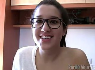 Amateur Cute Glasses Spanish Teen