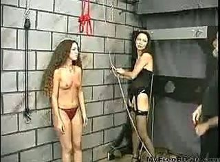 Teen Slave Gets Her Arms And Pussy Strapped By First Time Mistress ...