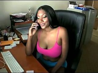 Big Tits Ebony  Office