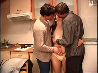Double Penetration Kitchen Teen Threesome