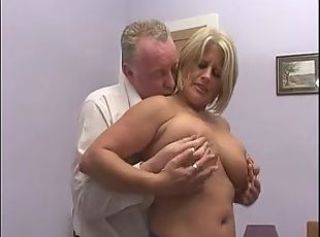 Big Tits Blonde Chubby Mature
