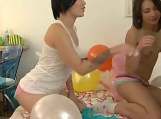 Amazing Party Small Tits Teen Threesome