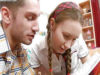 Pigtail Russian School Teen
