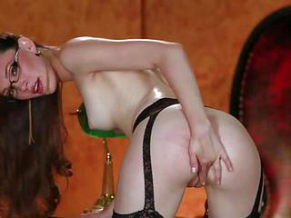 Aria Amor Is A Skinny Good Looking Brunette With Tiny Ass And Firm Tits. Bespectacled Beauty In Stockings Fingers Her Tight Pussy For The Camera Eagerly. Aria Amor Loves Doing It For The Camera.