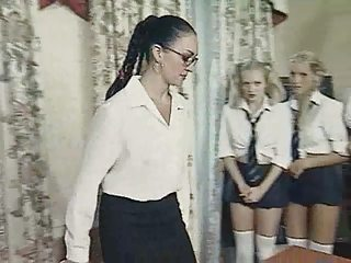British European Glasses Lesbian  School Teacher Uniform